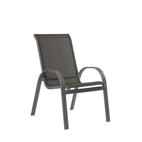MERXX Tuinstoel Amalfi (set van 2), (set van 2), aluminium/textiel, stapelbaar