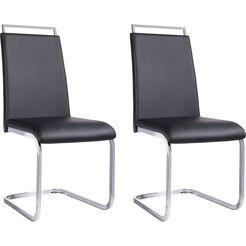 stoel in set van 2 of 4 zwart