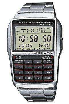 casio vintage chronograaf »dbc-32d-1aes« zilver