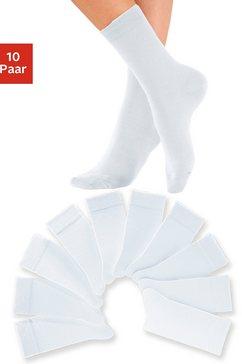 uniseks-sokken, set van 10 paar, h.i.s wit