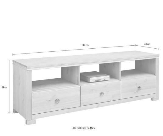 home affaire tv lowboard gotland breedte 147 cm in de online winkel otto. Black Bedroom Furniture Sets. Home Design Ideas