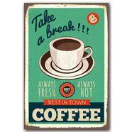 home affaire stalen schild »take a break«, afm. (bxh): 30x45 cm groen