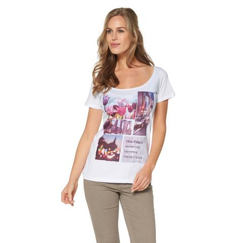 CHEER T-shirt met rolrandje langs de hals