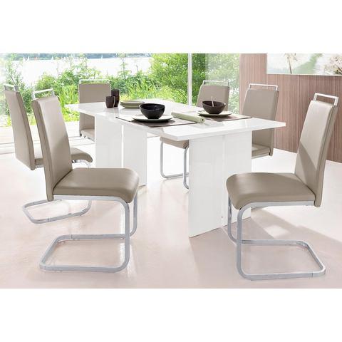 Eethoek bestaande uit 1 tafel en 4 stoelen