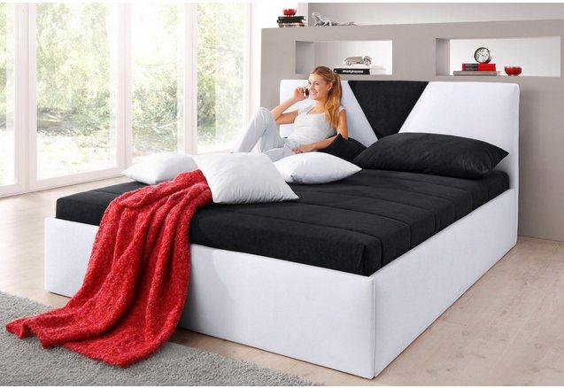 Bed met bekleding van micro-velours