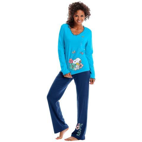 PEANUTS Pyjama met rucherandje