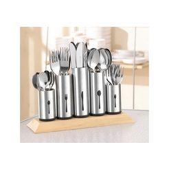 esmeyer bestekhouder met geborsteld edelstaal zilver