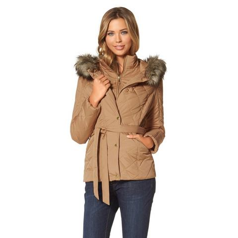 BUFFALO Doorgestikt jasje met capuchon