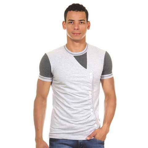 R-NEAL T-shirt met ronde hals, slim fit