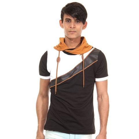 R-NEAL Slim Fit T-shirt met capuchon