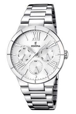 festina, multifunctioneel horloge, 'f16716-1' zilver