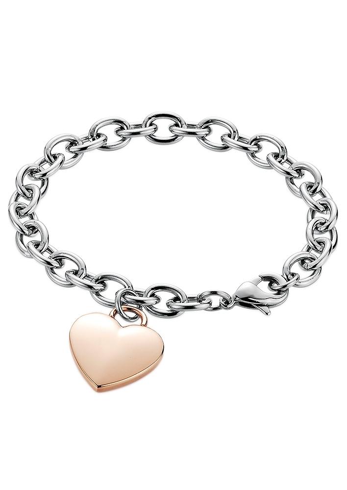 Firetti armsieraad: armband met ankerschakels en hanger 'hart' voordelig en veilig online kopen