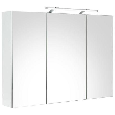 energie A+, Spiegelkast Arden hoogglans wit Inclusief verlichting, Giessbach