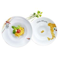 retsch arzberg pastabord italia porselein (6 stuks) wit