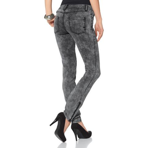 LAURA SCOTT Jegging van stretch-denim
