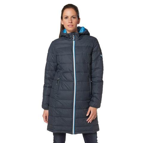 POLARINO Doorgestikte jas in lang model