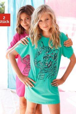 nachthemd comfortabel, met coole roofdierprint (2-delig) multicolor