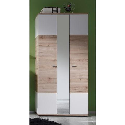 Garderobekast CAMPUS met spiegel