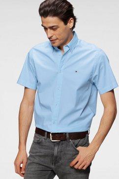 tommy hilfiger overhemd met korte mouwen blauw