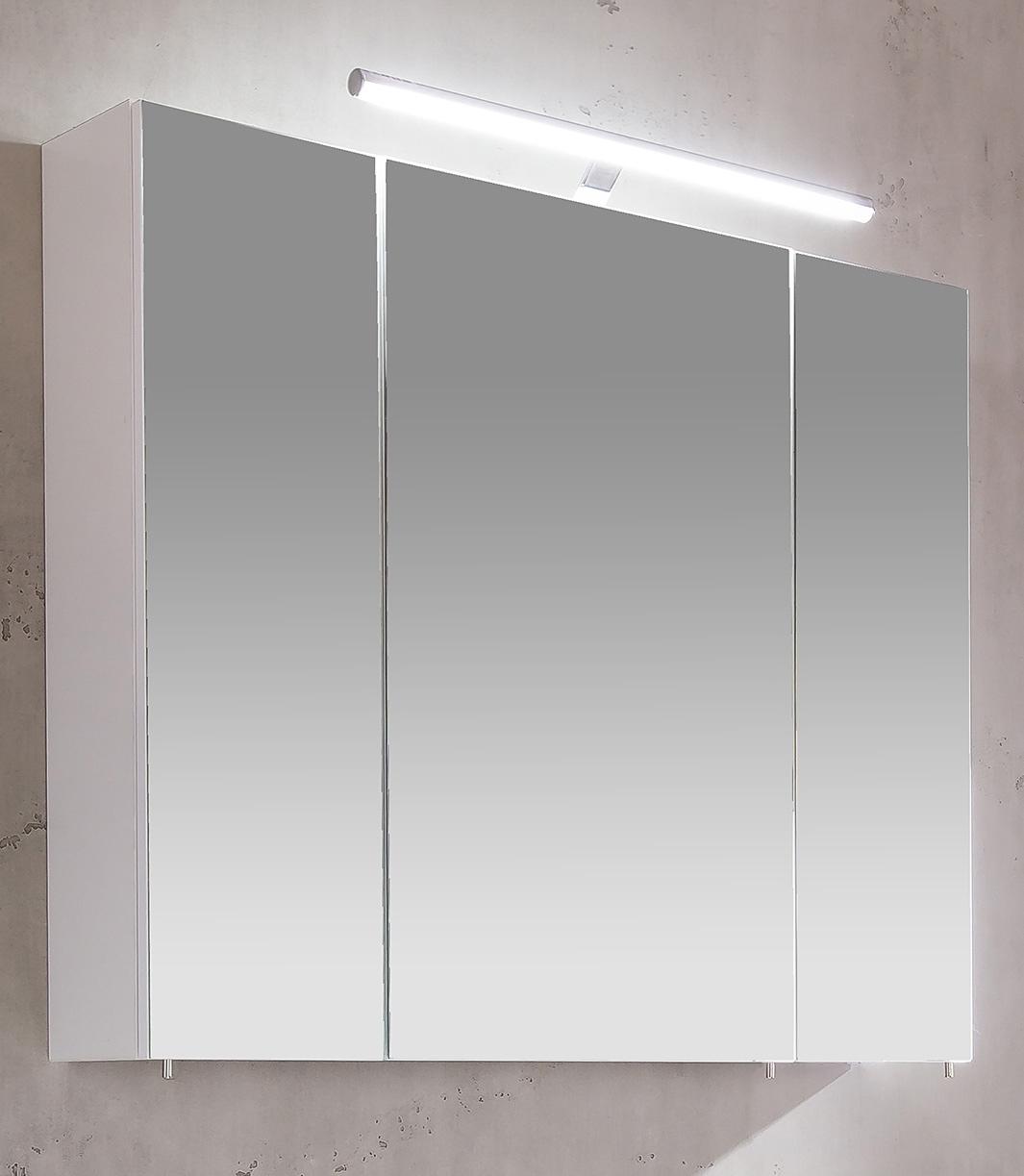 Schildmeyer spiegelkast Irene Breedte 80 cm, 3-deurs, ledverlichting, schakelaar-/stekkerdoos, glasplateaus, Made in Germany in de webshop van OTTO kopen