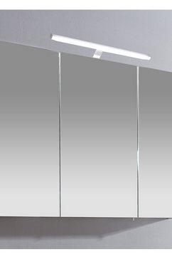 schildmeyer spiegelkast irene breedte 100 cm, 3-deurs, ledverlichting, schakelaar--stekkerdoos, glasplateaus, made in germany wit