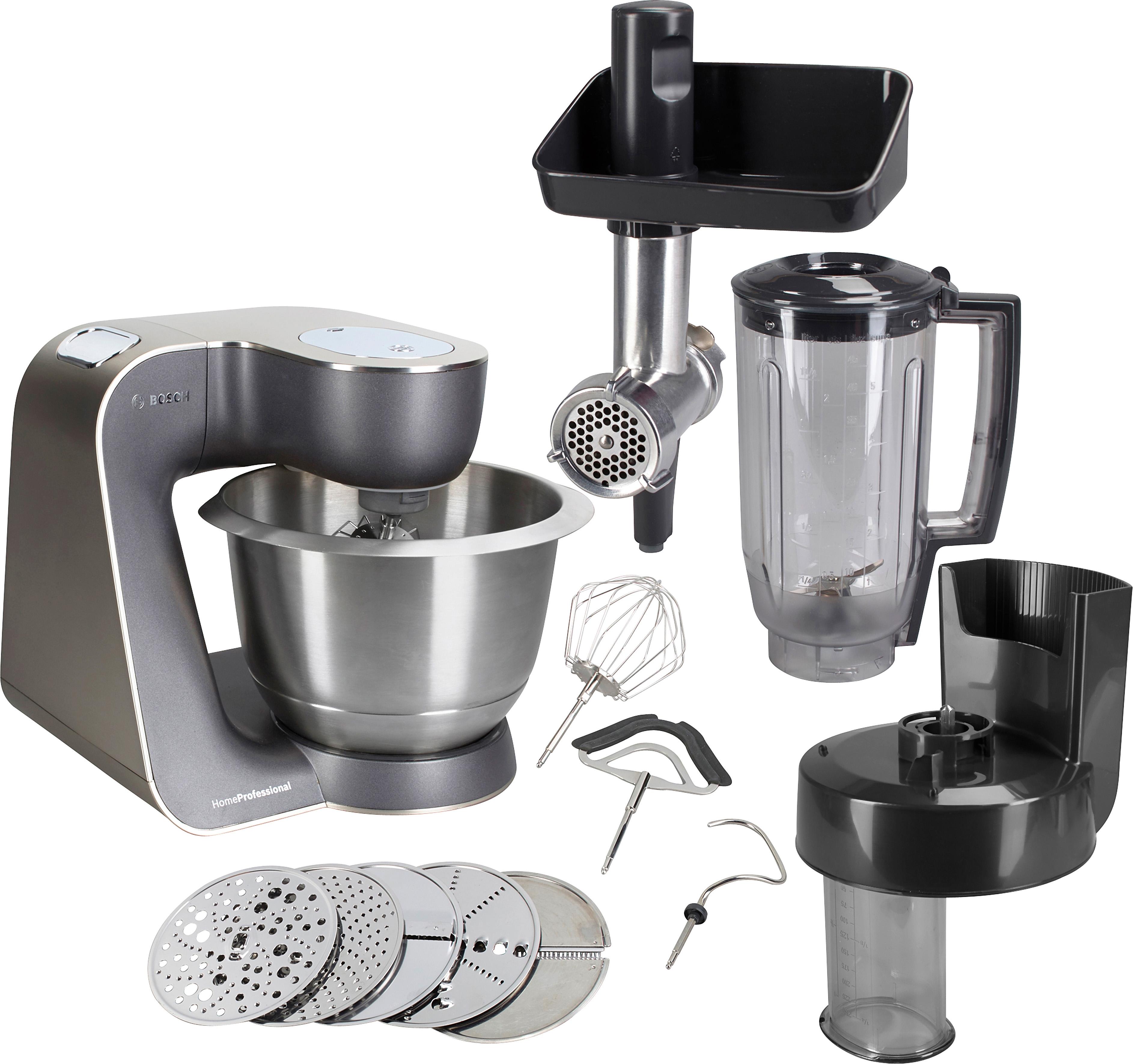 Bosch Keukenmachine Home Professional MUM57860, 3,9 liter, mystic black / edelstaal-look voordelig en veilig online kopen