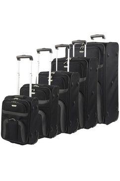 travelite trolley-set orlando 5-delig zwart