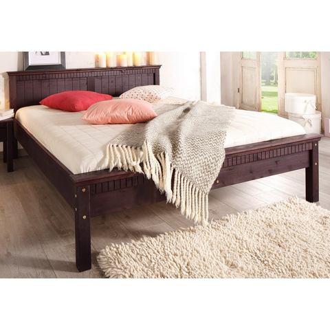 HOME AFFAIRE Bed met freeswerk koloniaal bruin Home Affaire 572745