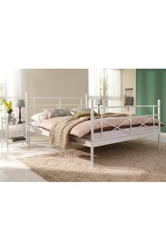 home affaire metalen ledikant thora van een mooi metalen frame, in verschillende bedbreedten en verschillende kleuren wit