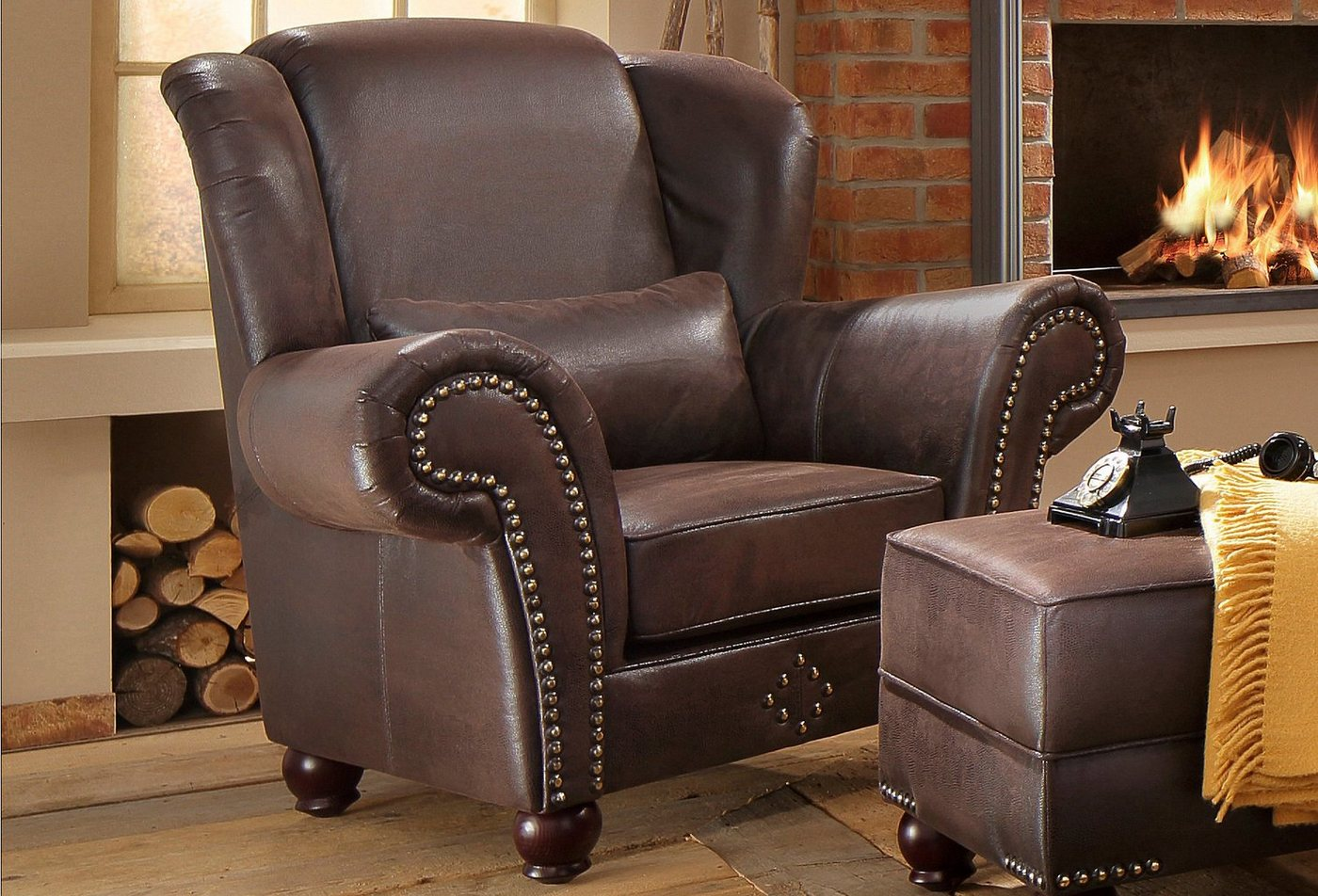 HOME AFFAIRE Oorfauteuil King George