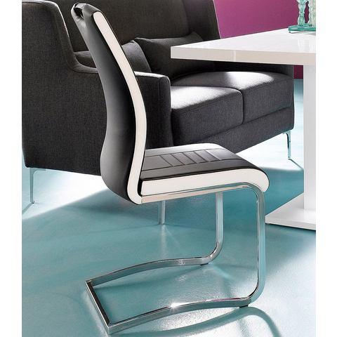 Eetkamerstoelen INOSIGN Vrijdragende stoel van imitatieleer 789042
