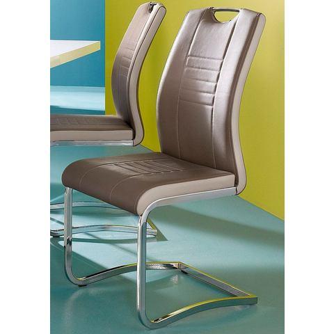 Eetkamerstoelen INOSIGN Vrijdragende stoel van imitatieleer 720214