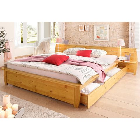 Bed Home Affaire geloogd/geolied beige Home Affaire 598589