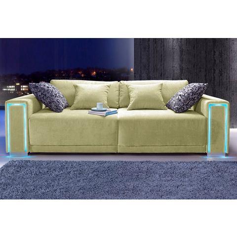 woonkamer extra groot bankstel groen Megabank inclusief LED RGB verlichting 71