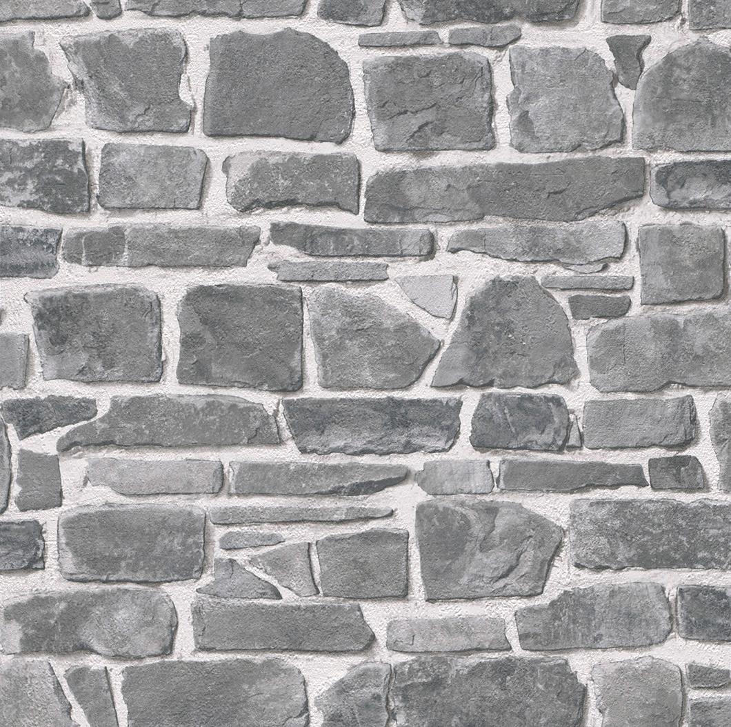 Papierbehang rasch steenmotief makkelijk besteld otto for Bauhaus 3d tapete