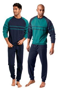 le jogger pyjama in set van 2 groen