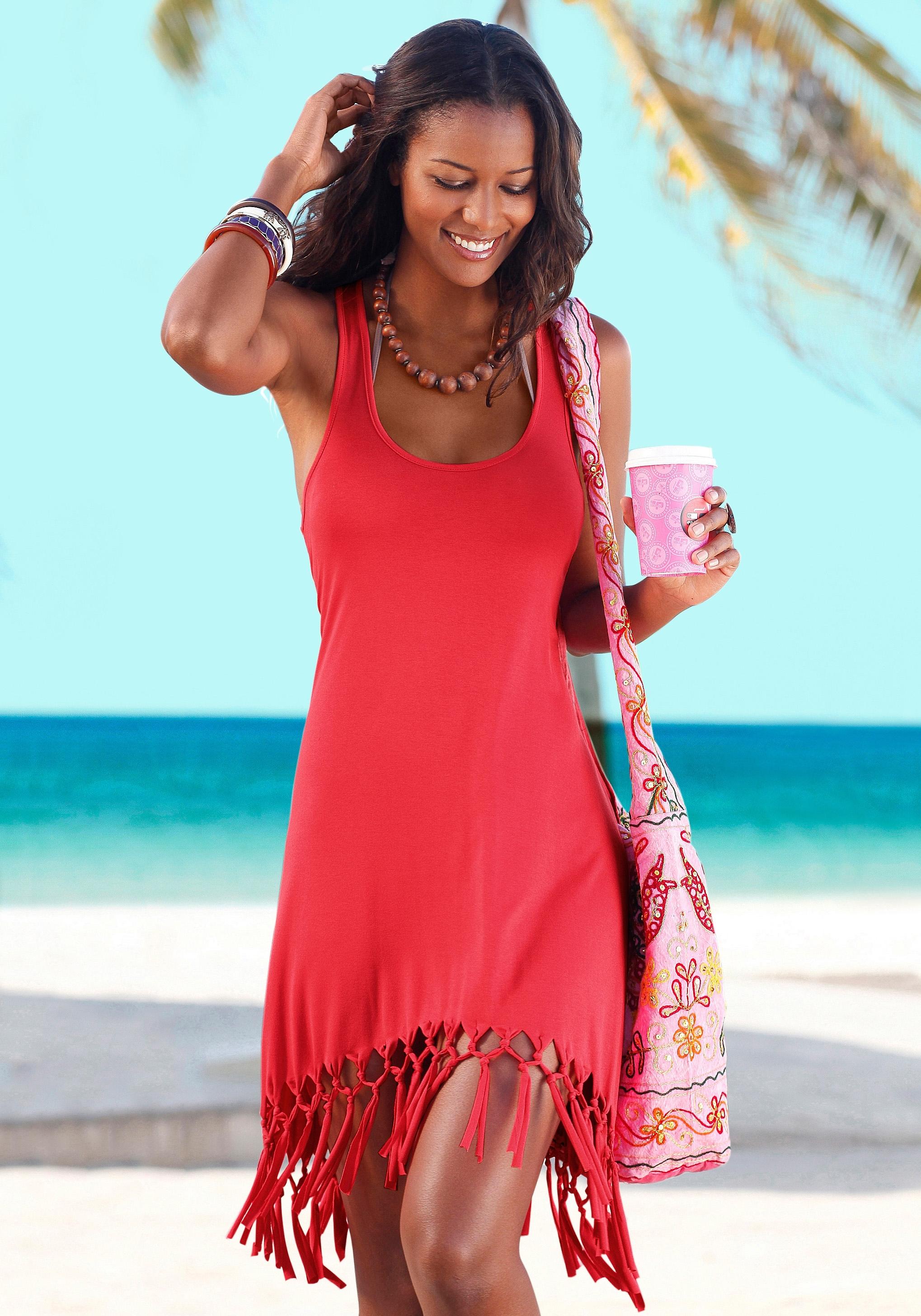 Beachtime Beach Time lang shirt met franje veilig op otto.nl kopen