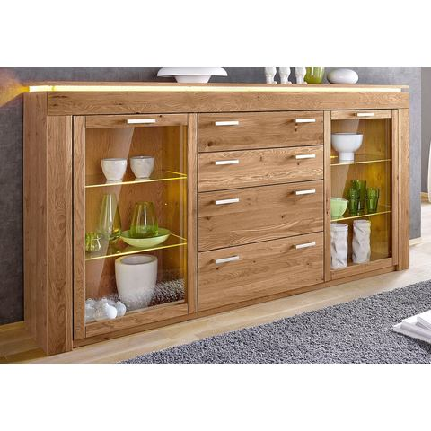 Dressoirs Highboard met glasdeuren en 4 laden 279315