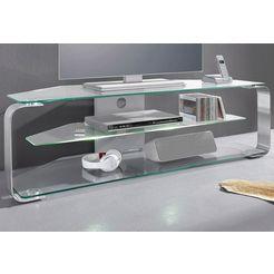 """jahnke tv-meubel cu-mr 135 breedte 144 cm (voor tv-afmetingen tot 60""""-152 cm geschikt) zilver"""