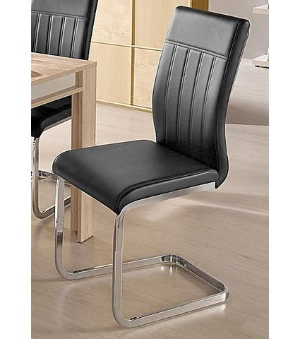 Eetkamerstoelen Vrijdragende stoel met zichtbare naden 789786