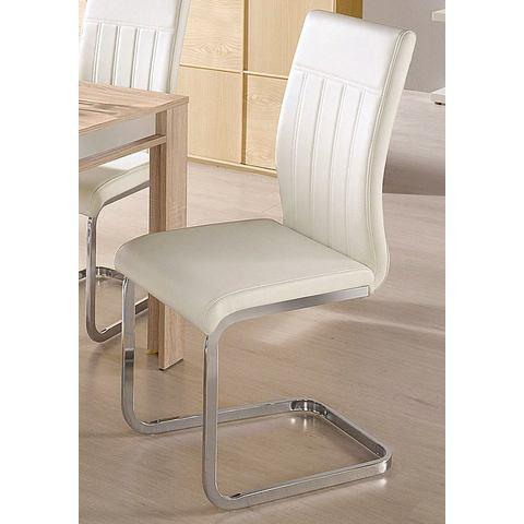 Eetkamerstoelen Vrijdragende stoel met zichtbare naden 224380