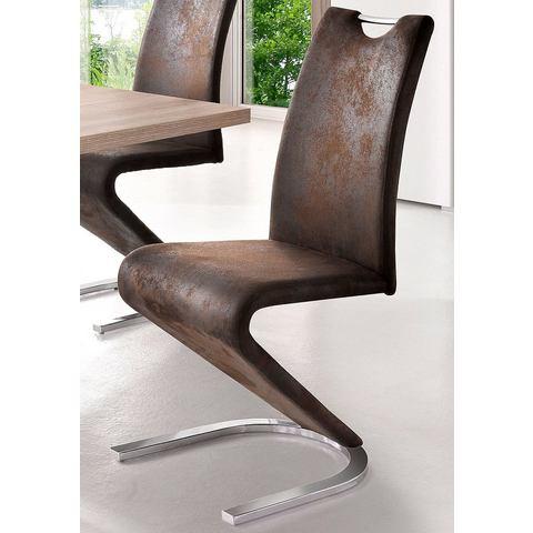 Eetkamerstoelen Vrijdragende stoel in Z-model in set van 2 490003