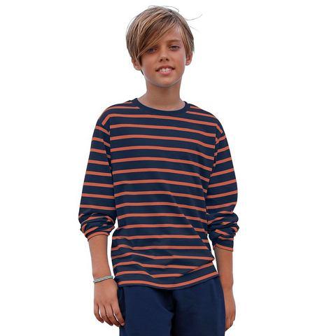 Gestreept shirt met lange mouwen, CFL