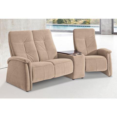 woonkamer driepersoons bankstel beige Luxe microgaren City Sofa met relaxfunctie