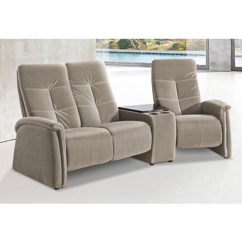 woonkamer driepersoons bankstel grijs NatuurLEER City Sofa met relaxfunctie