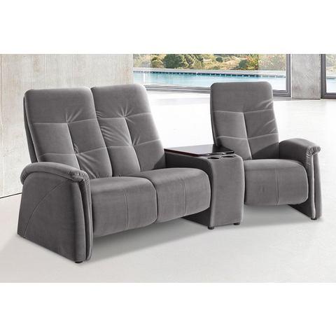 woonkamer driepersoons bankstel grijs SOFTLUX imitatieleer City Sofa met relaxfunctie