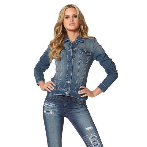 ARIZONA Jeans-jack met contrastnaden