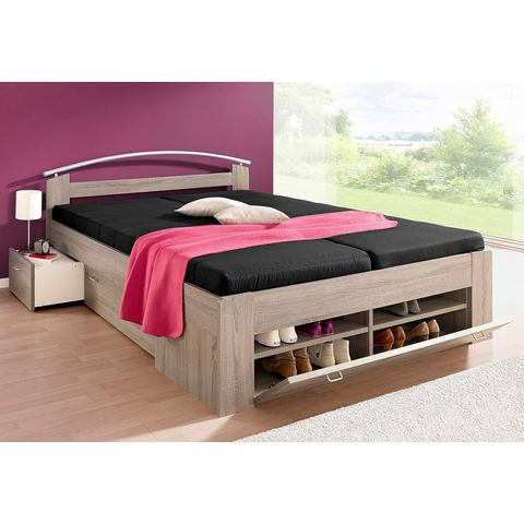 Bed met open kast