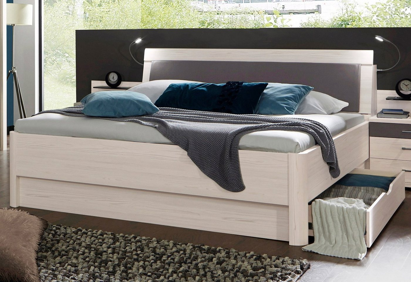 WIEMANN Bed met pool-lariks decor