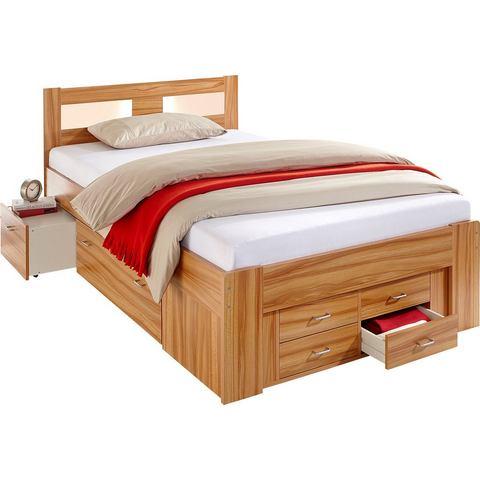 Bed met lade inzetten alleen Bedframe wit 162244